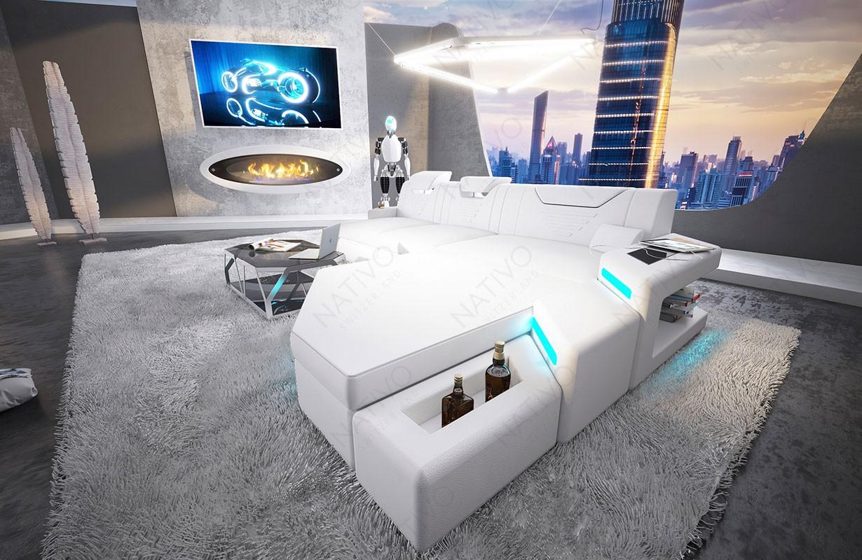Designová sedací souprava NEMESIS MINI s LED osvětlením a USB přípojkou