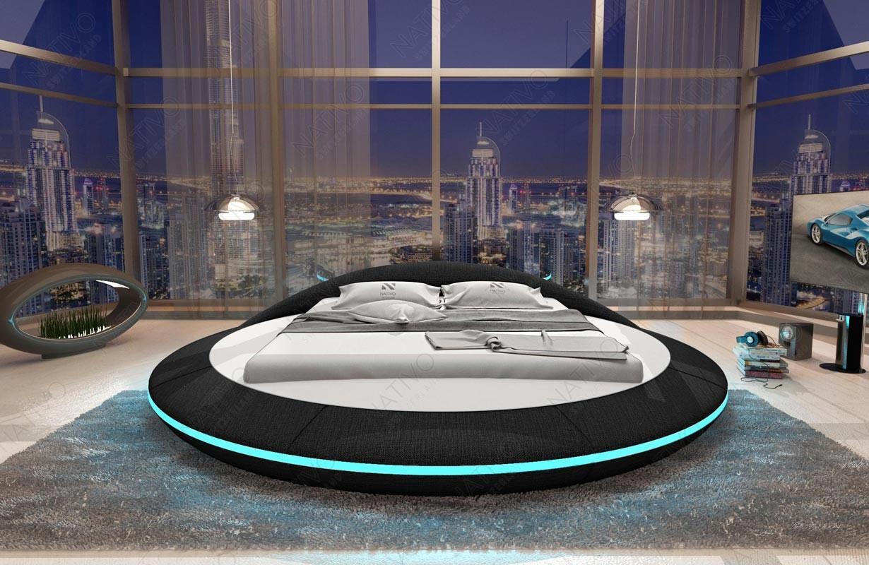 Čalouněná  postel MARS s LED osvětlením a USB přípojkou