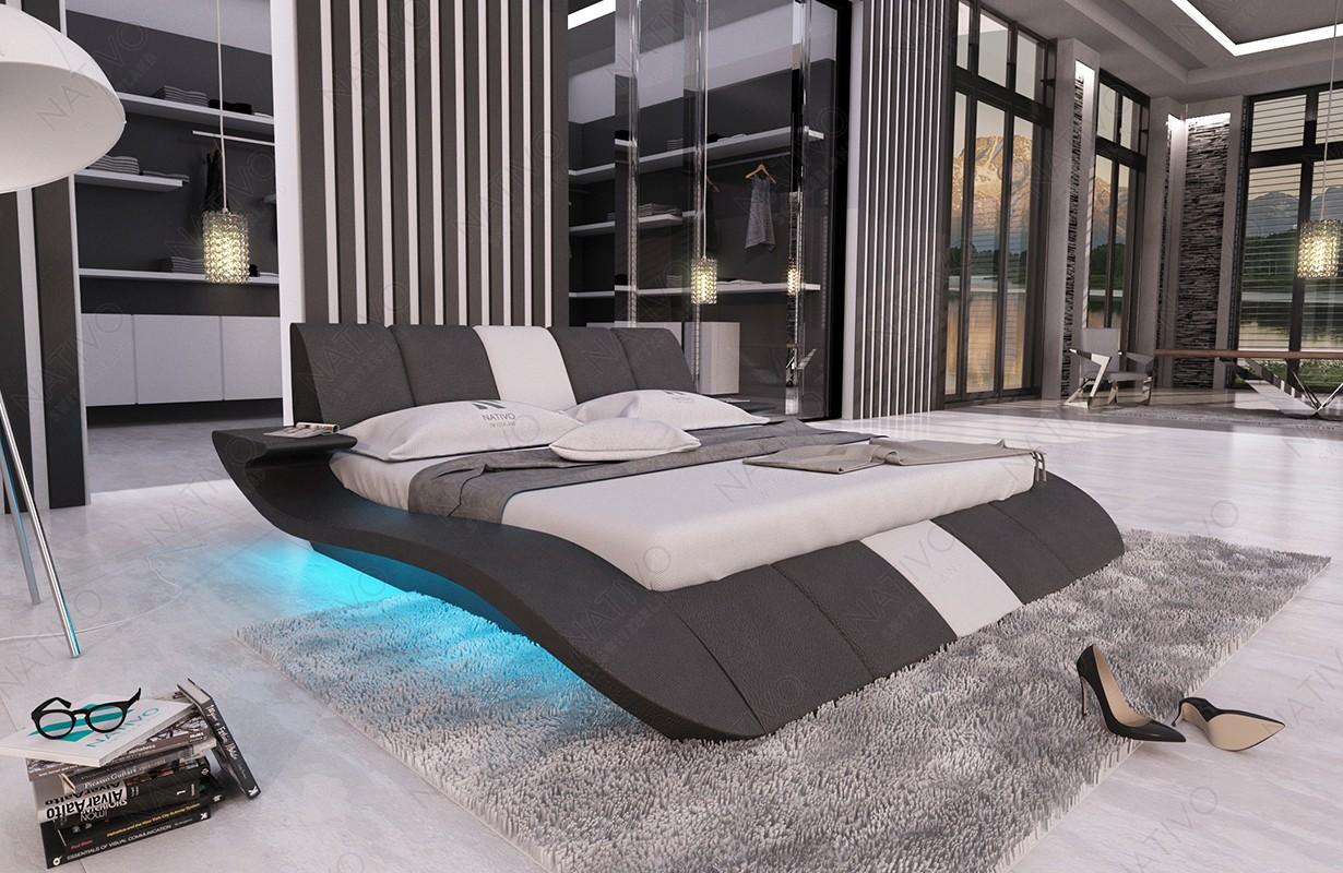 Čalouněná postel BERN V1 s LED osvětlením a USB přípojkou