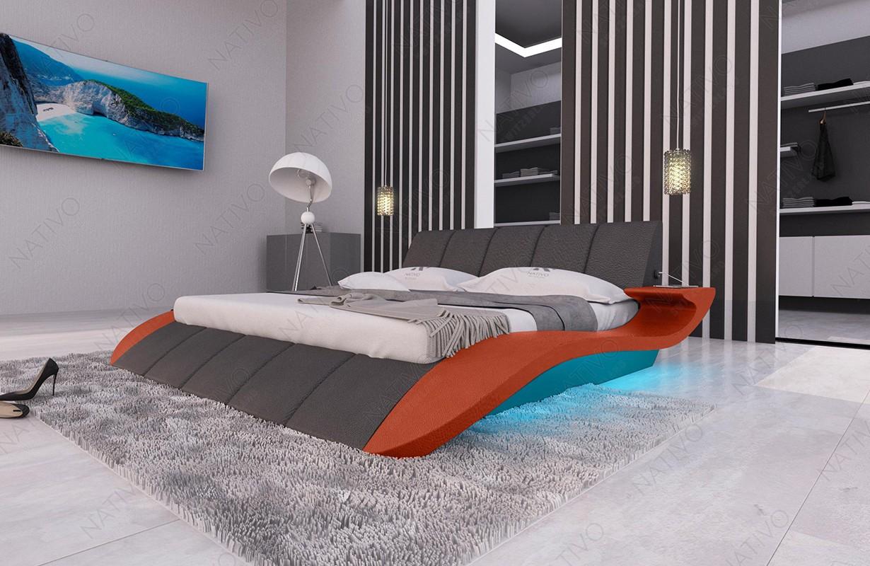 Čalouněná postel BERN V2 s LED osvětlením a USB přípojkou