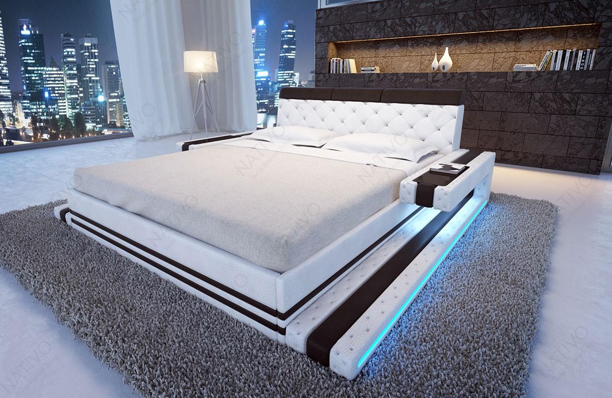 Čalouněná postel IMPERIAL s LED osvětlením