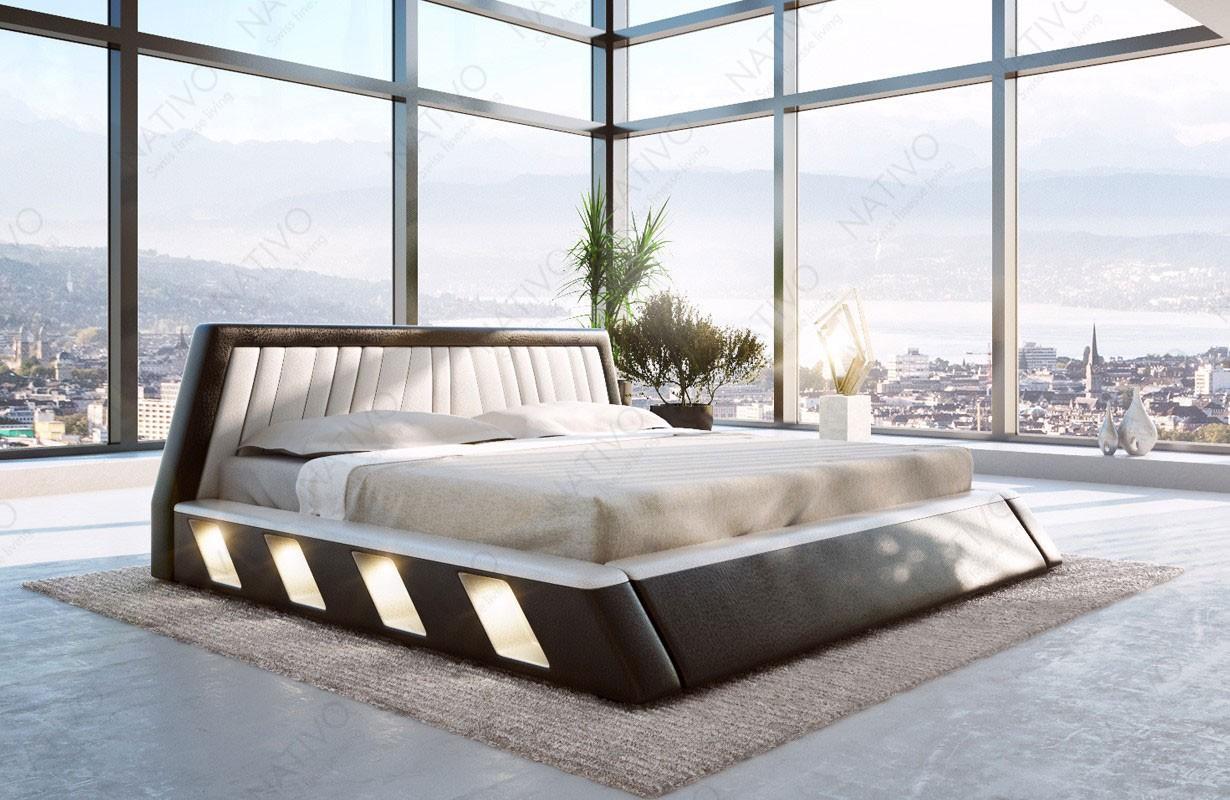 Čalouněná postel LENOX s LED osvětlením