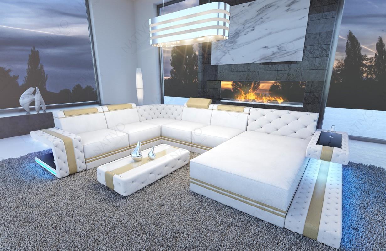 Designová sedací souprava IMPERIAL XXL s LED osvětlením