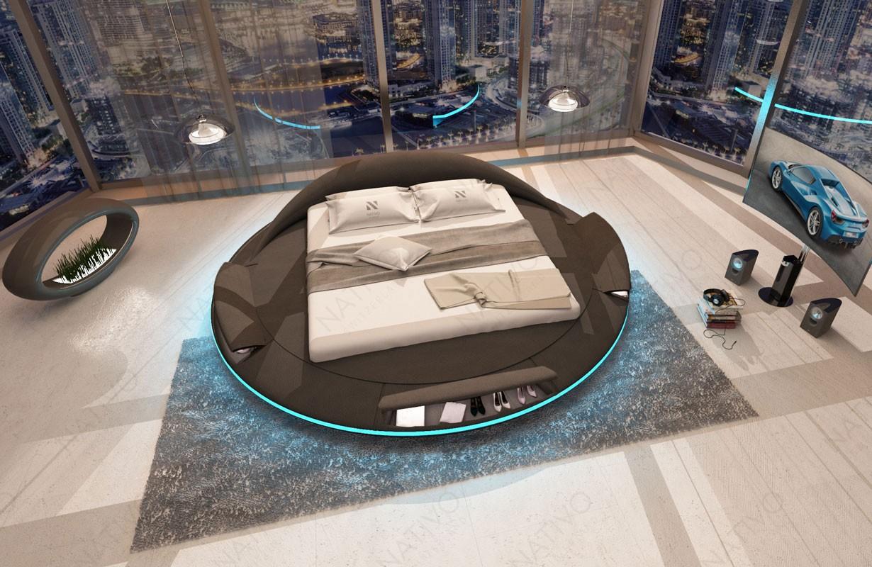 Čalouněná postel MARS s přihrádkou, LED osvětlením a USB přípojkou