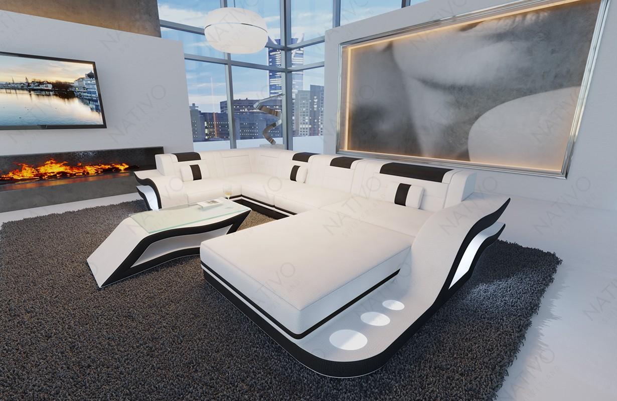 Designová sedací souprava HERMES XL s LED osvětlením