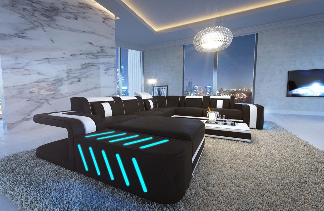 Designová sedací souprava SPACE XXL s LED osvětlením